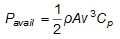 Power Available Formula For Wind Turbine