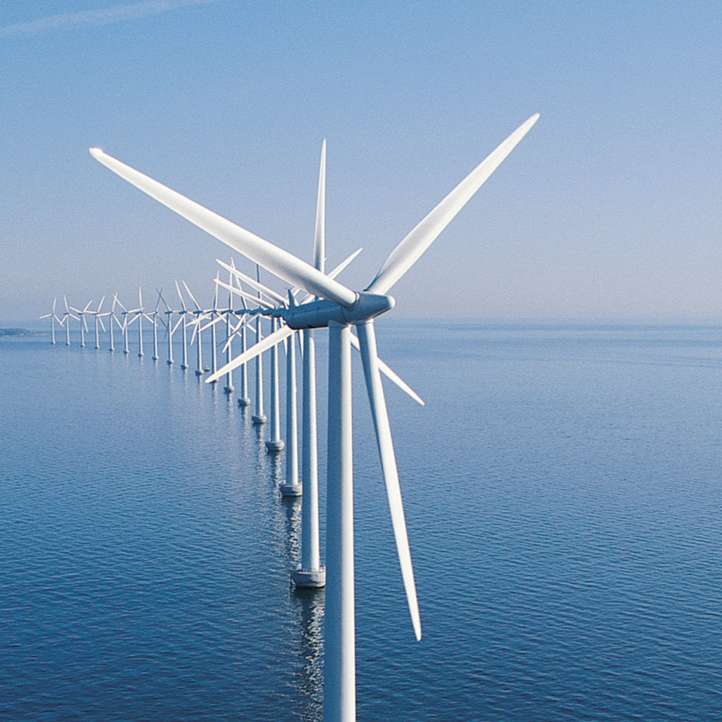 wind turbine on water