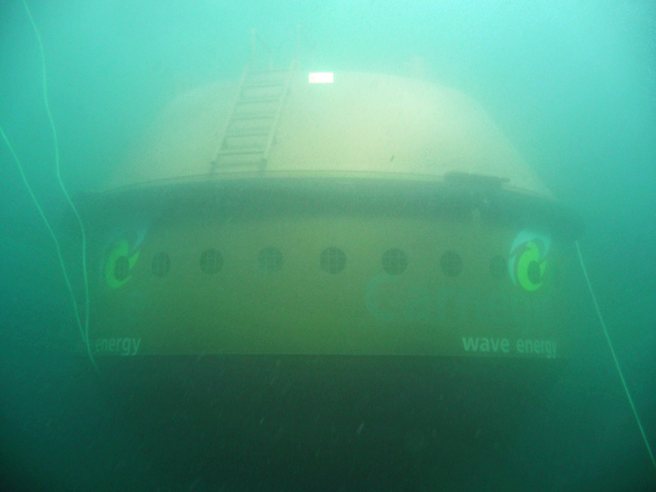 Carnegie CETO unit submerged