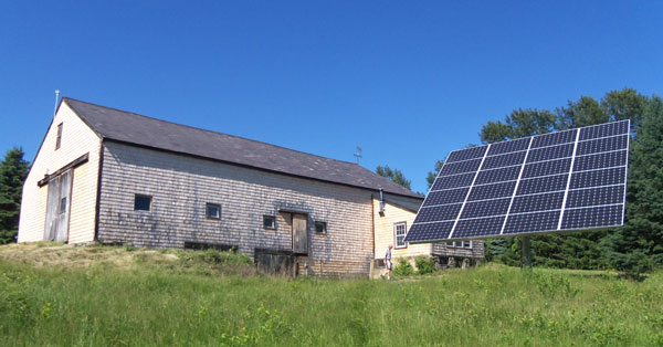 5.76kw Series 24 AllSun Solar Tracker installed at a home in Exeter, New Hampshire. source: revisionenergy.com